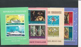 TOGO Scott C92a, C94a, C96a, C101a Yvert BF30, BF31, BF32, BF34 (4 Blocs) ** Cote 12,50$ - Togo (1960-...)