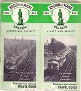 Tourisme - Timetables Schedules Dienstregeling  - Trains Treinen Boston & Maine Railroad - Bus - 1947 - Monde
