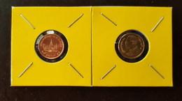 Thailand Coin Circulation 25 Satang 1/4 Baht Year 2011 UNC 2 Pcs (2) - Thailand