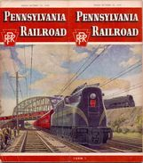 Tourisme - Timetables Schedules Dienstregeling  - Trains Treinen Pennsylvania Railroad Time Tables 1949 - Monde