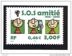 "France 3356  Neuf ** (""40e Ann; De S.O.S. Amitié )  Cote 1,00€ - Neufs"
