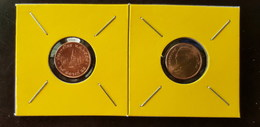 Thailand Coin Circulation 25 Satang 1/4 Baht Year 2014 UNC 2 Pcs (2) - Tailandia