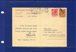 ##(YEL)-Italia 29-1-1954-Botticino-Villa Basilica-cartolina.postale Chlorodont  Lire 20 Intestata Cartiera Carlo Ansaldi - 6. 1946-.. Repubblica