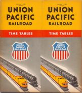 Tourisme - Timetables Schedules Dienstregeling  - Trains Treinen Union Pacific Railroad Time Tables 1950 - World