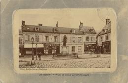 60 - LIANCOURT - CPA - Place Et  Statue Larochefoucaud - Circulée 1916 - Liancourt