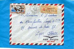 MARCOPHILIE-haute Volta-Lettre-REC->Françe-cad-zorgho Cachet Perlé1963 --stamps-N°106 Sport -boxe - Upper Volta (1958-1984)