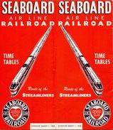 Tourisme - Timetables Schedules Dienstregeling  - Trains Treinen Seaboard Air Line Railroad Time Tables 1948 - Monde