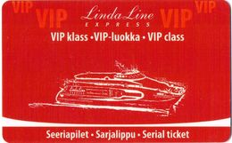ESTONIA   KEY CABIN     LINDA LINE EXPRESS  Shipping Company - Hotel Keycards