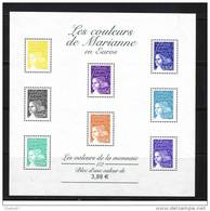 2002: BF 44 Les Couleurs De Marianne En Euros , Cote 12,00€ - Blocs & Feuillets