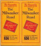 Tourisme - Timetables Schedules Dienstregeling  - Trains Treinen Milwaukee Road - The Hiawatha Time Tables 1937 - Monde