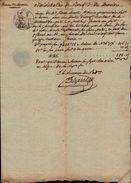 Recu De Xx De Lacoste – Lavaur  - 7 Floréal An 12 – ( 27 Avril 1804 )   - Cachet 25 Cen  Rep. Franc.  +  Cachet Sec - Manuscrits