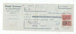 Lettre De Change, 1940 , Entrepots CHARTRONNAIS De Vins étrangers , Bordeaux , Frais Fr : 1.45 E - Bills Of Exchange