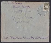 Soviet Union-USSR: Cover Vinogradov To France, 1932, 1 Stamp, Propaganda Label At Back, Rare (damaged!) - 1923-1991 USSR