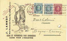 Carte Postale Publicitaire 1926 J. LANNOY à LIEGE Cuirs Et Peausseries Pour Chaussures Et L'industrie - Liege