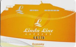 ESTONIA   KEY CABIN     LINDA LINE EXPRESS ECONOMIC  Shipping Company - Cartes D'hotel