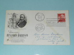 Honoring BENJAMIN HARRISON - OXFORD 6 JUN 1959 OHIO ( First Day Of Issue ) U.S.A. ! - Enveloppes évenementielles