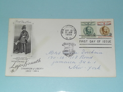 Honoring LAJOS KOSSUTH - WASHINGTON SEPT 19 1958 D.C. ( First Day Of Issue ) U.S.A. ! - Enveloppes évenementielles