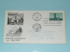 100th Anniversary Of OREGON STATEHOOD - ASTORIA FEB 14 1959 OREG. ( First Day Of Issue ) U.S.A. ! - Enveloppes évenementielles