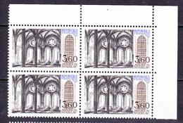N° 2255 Série Touristique: Abbaye De Noilac Bruère Allichamps: Beaux Bloc De 4  Timbres Neuf Impeccable - Ungebraucht