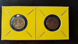 Thailand Coin Circulation 50 Satang 1/2 Baht Year 2008 Copper And Bronze UNC 2 Pcs (2) - Thailand