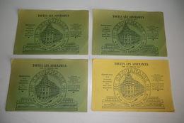 VIEUX PAPIERS LOT DE 4 BUVARDS (3 Verts, 1 Jaune). TOUTES LES ASSURANCES SEQUANAISE PARIS 9e RUE LEFEBVRE. . TBE. - Banca & Assicurazione