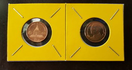 Thailand Coin Circulation 50 Satang 1/2 Baht Year 2010 Bronze UNC 2 Pcs (2) - Thailand