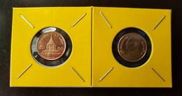 Thailand Coin Circulation 50 Satang 1/2 Baht Year 2014 Bronze UNC 2 Pcs (2) - Thailand