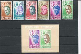 TOGO Scott 665-668, C102-C103, C103a Yvert 597-600, PA105-PA106, BF35** (6+bloc) O Et ** Cote 3,80 $ 1969 - Togo (1960-...)