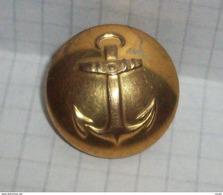 Button Brass - Swedish Fleet Navy Anchor - C.C.Sporrong & Co., Stockholm - 23mm - Boutons