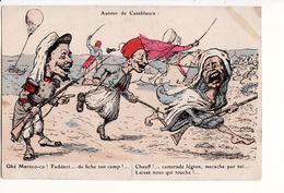 """""""Autour De Casablanca"""" Illustration De L. Chagny (guerre De Colonie) / Editions Chagny Alger - Marokko"""