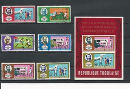 TOGO Scott 689-692, C113-C114, C114a Yvert 621-624, PA115-PA116, BF40** (6+bloc) O Et ** Cote 4,20$ 1969 - Togo (1960-...)