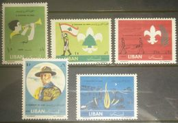 E11 RM Lebanon 1962 Scouts Issue, 5 Stamps, MLH - Lebanon
