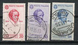 Italia. 1935. Cincuentenario De La Muerte Del Compositor Vecenzo Bellini. - 1900-44 Victor Emmanuel III