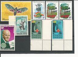 TOGO Scott 452-3, C42,756, C213, 931-3 Yvert 385-6, PA44, 683, PA215, 873-5 (8) ** Cote 6,00$ - Togo (1960-...)