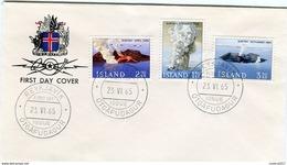Iceland/Islande/Ijsland/Island FDC 23.VI.1965 Surtsey Eruption - FDC