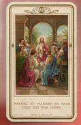 Image Pieuse Holy Card Communion L. Cayré 3-06-1943 - Ed U.O.P.C. 16 A - Prenez Et Mangez En Tous Ceci Est Mon Corps - Imágenes Religiosas