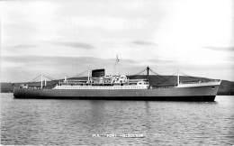 """ M.V. PORT MELBOURNE "" ( UK England ) BATEAU DE COMMERCE Cargo Merchant Ship Tanker - CPSM Photo Format CPA - - Handel"