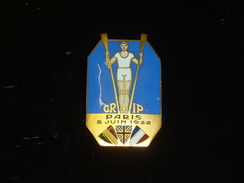 BROCHE INSIGNE EN EMAIL AVIRON - CRIP PARIS 5 JUIN 1932 - RARE AVIRON SPORT - Canottaggio