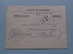 Ministerie Van Rechtswezen ANVERS > SCHOOTEN Aanbevolen 2-2-1933 ( Zie Foto Voor Detail ) ! - Belgique
