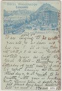 Lugano - Hotel Washington - Litho Prec - 1892 !       (P-95-60726) - TI Tessin