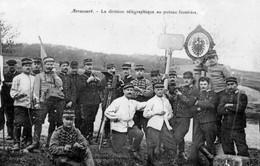 CPA De ARRACOURT (Meurthe & Moselle) - La Division Télégraphique Au Poteau Frontière. Edition E. Bastien. Bon état. - France