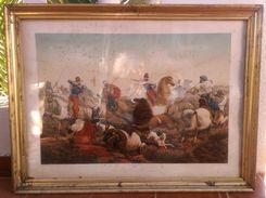 1850 Francois Garnier ( 1793 - 1867 ) - Lithographie - Chasse Au Leon - Orientalisme - Litografía