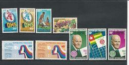 TOGO  Scott 831-2, 866-7, 914-5, 898, C244-5 Yvert 764-5, 799-0, 847-8, 855, PA268-9 (9) ** Cote 7$ 1973-75 - Togo (1960-...)