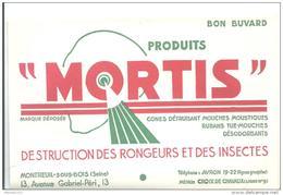 Buvard -  Mortis-Produits Pour Destruction Des Rongeurs - Animaux