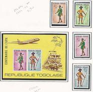 TOGO Scott 873-874, C222-C223, C223a Yvert 807-808, PA224-PA225, BF77 (4+bloc) Neuf**cote 42,90$ - Togo (1960-...)