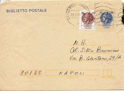 1978 Italia Italien Italie Intero Sir £120 Biglietto Vg Napoli Kartenbrief Carte - Lettre - 6. 1946-.. Repubblica