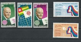 TOGO Scott 898, C244-C245, 914-915 Yvert 855, PA268-PA269, 847-848 (5) Neuf** Cote 3,75$ - Togo (1960-...)