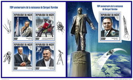NIGER 2017 ** Sergei Korolev Space Raumfahrt Espace M/S+S/S - OFFICIAL ISSUE - DH1738 - Space