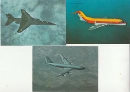 Lot De 3 CPM C135-JAGUAR-FOKKER. - 1946-....: Era Moderna