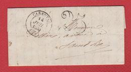 Lettre  / De Carpentras  / Pour Saint Lo  / 14 Juillet 1850 - Storia Postale